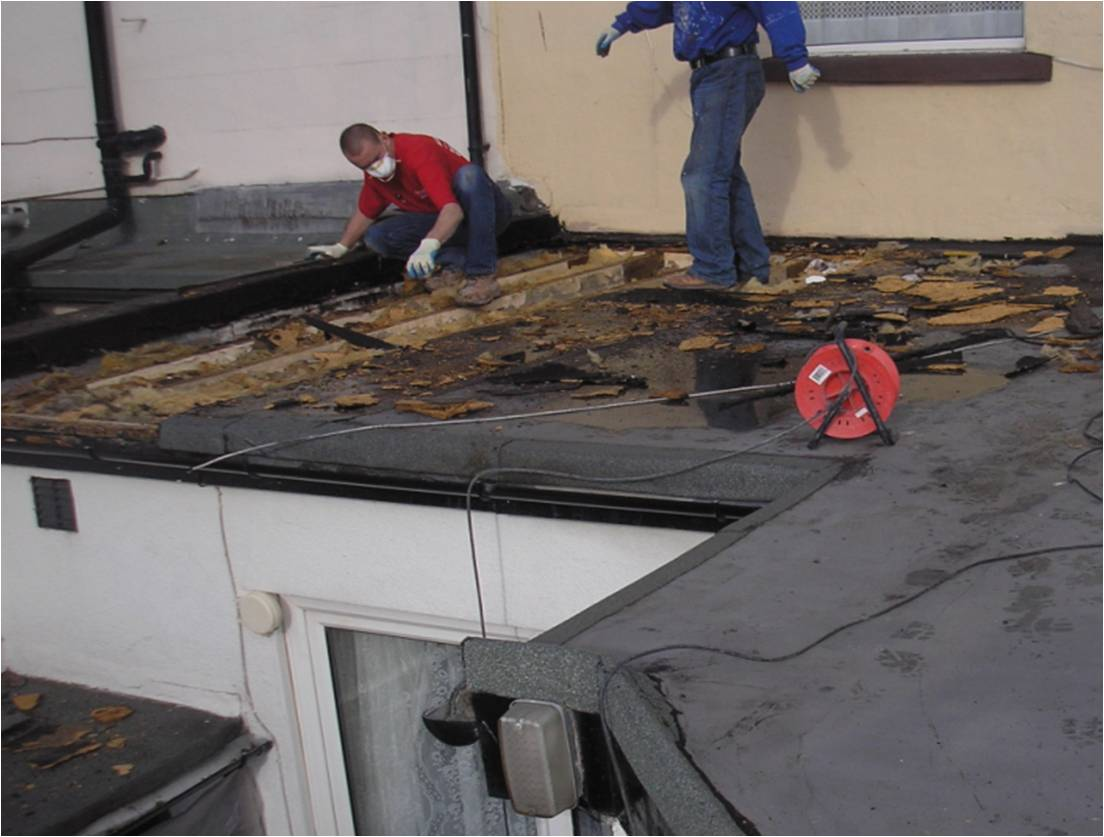 Urgent repair from storm damage to flat roof
